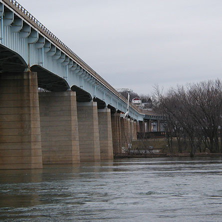 MD 17 over Potomac River from the Side