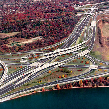 I-95/I-495/I-295 Interchange From Above
